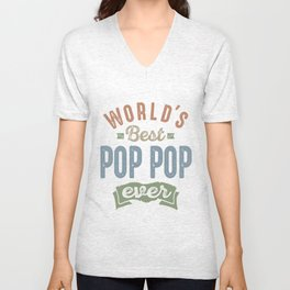World's Best PopPop Unisex V-Neck