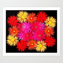 Bouquet on display Art Print