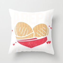 Arepa Is My Valentine Funny Gift for Valentines Day graphic Throw Pillow