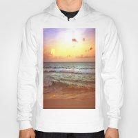 beach Hoodies featuring beacH Sunrise Sunset by WhimsyRomance&Fun