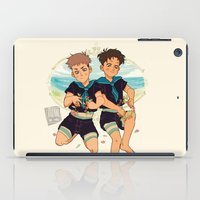 snk iPad Cases featuring at the beach by JohannaTheMad