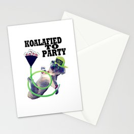 koalafied to party Stationery Cards