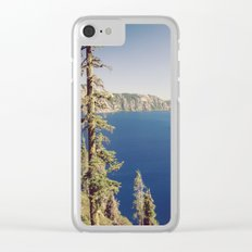 Beautiful Blue Crater Lake Clear iPhone Case