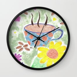 Strong cup of coffee Wall Clock
