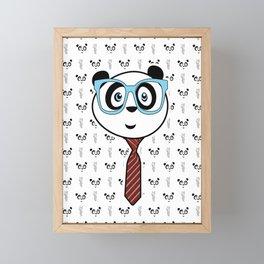 Panda Nerd Framed Mini Art Print