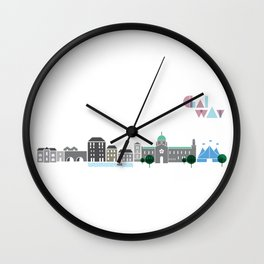 Love Galway - Illustrations Wall Clock