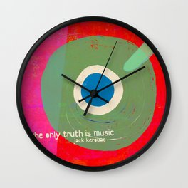 Music - the only truth Wall Clock