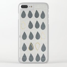 Gold Drops Clear iPhone Case