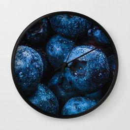 Blueberry Brambles Wall Clock