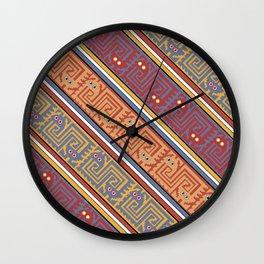 Pre Inka Pattern Wall Clock