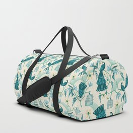 Aviary - Cream Duffle Bag