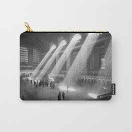 New York Grand Central Train Station Terminal Black and White Photography Print Carry-All Pouch