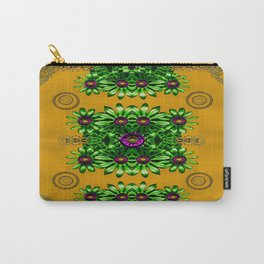 Floral in gold and chains Carry-All Pouch