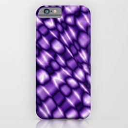Vapor drips of the fuchsia diagonal with cracks on the fabric backing.  iPhone Case