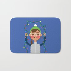 Holiday with Lights Bath Mat