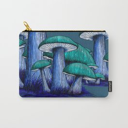 Magically Blue Mushrooms Carry-All Pouch