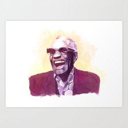 Ray Charles portrait Art Print
