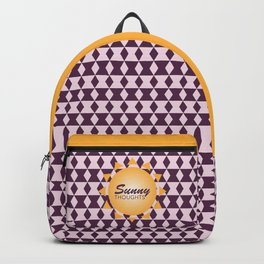 Simple Graphic Sunny Thoughts Orange Sun Backpack
