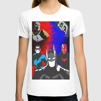 nightwing T-shirts featuring Nightwing, Red Hood by dudesweet