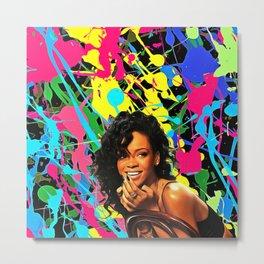 Rihanna - Celebrity Art Metal Print