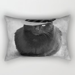 Cat with hat Rectangular Pillow
