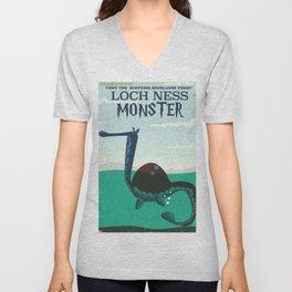Loch Ness Monster vintage 'children's book' travel poster Unisex V-Neck