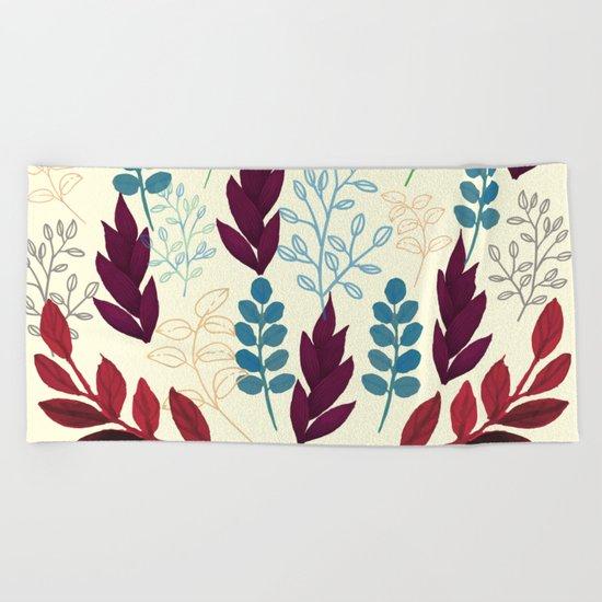 Floral Pattern #5 Beach Towel