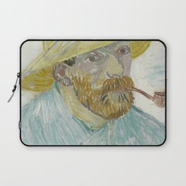 Self-Portrait with Pipe and Straw Hat Laptop Sleeve