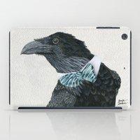 lara croft iPad Cases featuring Raven Croft by Jennifer Lambein