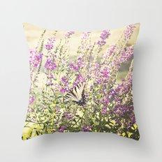 Fields of Butterflies Throw Pillow
