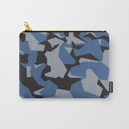 Camouflage Splinter Pattern Blue Carry-All Pouch