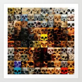 100 Painted Skulls Art Print