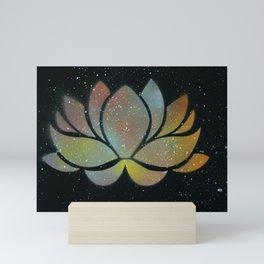 Galaxy Lotus Mini Art Print