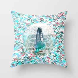 Surfin Throw Pillow