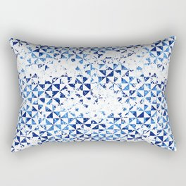 Small geometric abstract mosaic pattern Rectangular Pillow