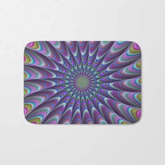 Twisted fractal sun Bath Mat
