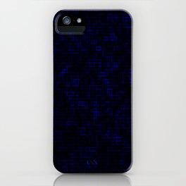 Dark Blue Pixels iPhone Case