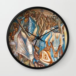 Contribution of Negro Women in American Life and Education Mural within Houston Multi-Cultural Assoc Wall Clock