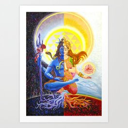 Shiva and Shakti Art Print