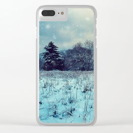 Snowy mountain landscape Clear iPhone Case
