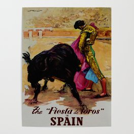Fiesta de Toros in Spain Travel Poster
