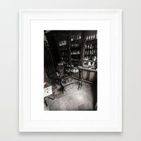 dentist Framed Art Prints featuring Dentist chair by Ian Richardson