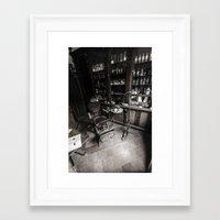 dentist Framed Art Prints featuring Dentist chair by Ian Richardson