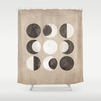 moon phases Shower Curtains featuring Moon Phases by cegphotographics