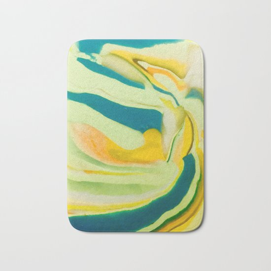 What The World Needs Now. Yellow Marble. Bath Mat
