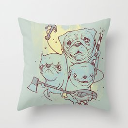 Sea Dogs Throw Pillow