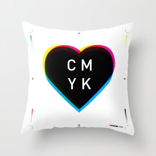 Print Love Throw Pillow