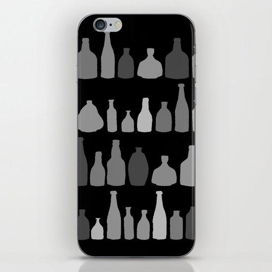 Bottles Black and White on Black iPhone & iPod Skin