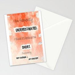 Illuminae - (Amy Kaufman and Jay Kristoff) I think it is because I'm short. Stationery Cards