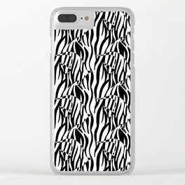 Black and White Zebra fish Clear iPhone Case